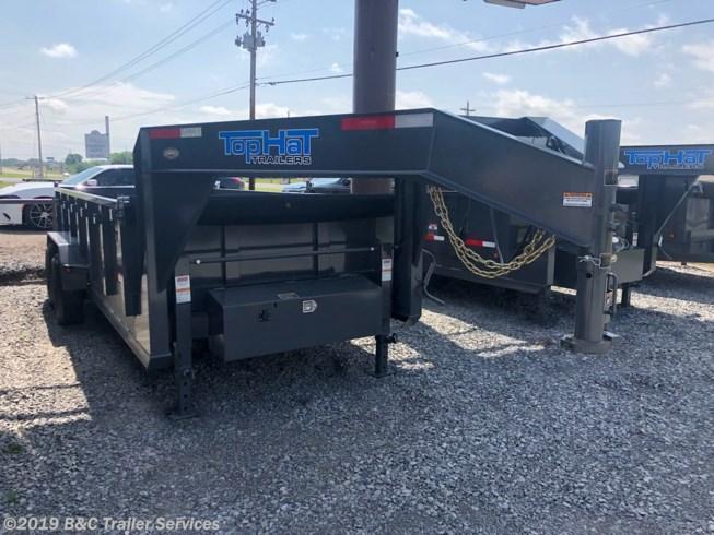 New 2019 Top Hat 7X16 Gooseneck Dump Trailer 7000# Axles