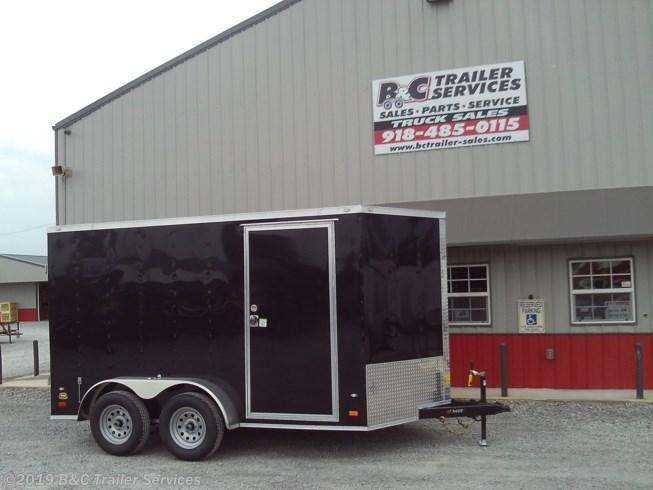 New 2019 Covered Wagon 7X14 ENCLOSED CARGO TRAILER 3500 AXLES w/ BARN DOORS
