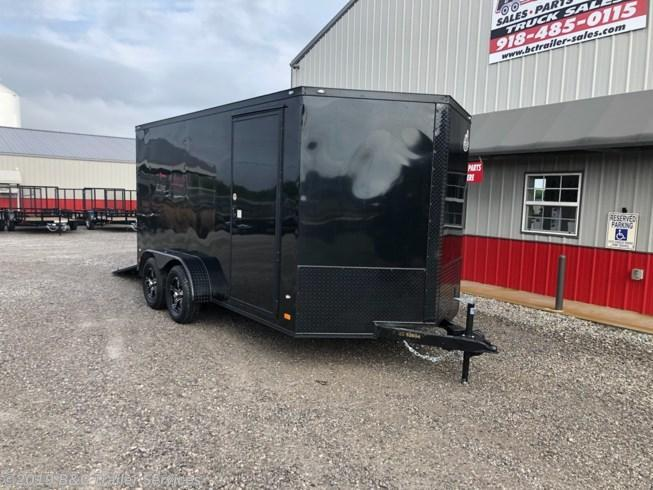 New 2019 Covered Wagon 7X18 ENCLOSED CARGO TRAILER - ALL BLACK OUT PACKAGE