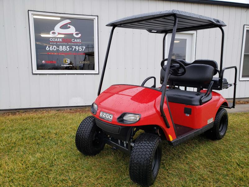 2020 E-Z-GO VALOR-4 PASSENGER-FLAME RED EFI (GAS)