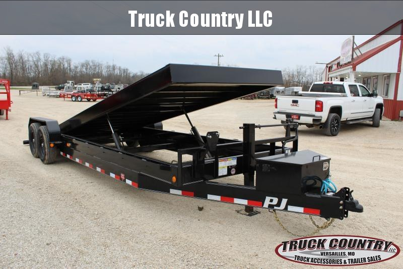 2020 PJ Trailers TF 24' tilt Equipment Trailer