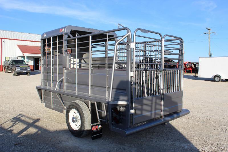 2020 GR Trailers 6x14 Half-Top Livestock Trailer