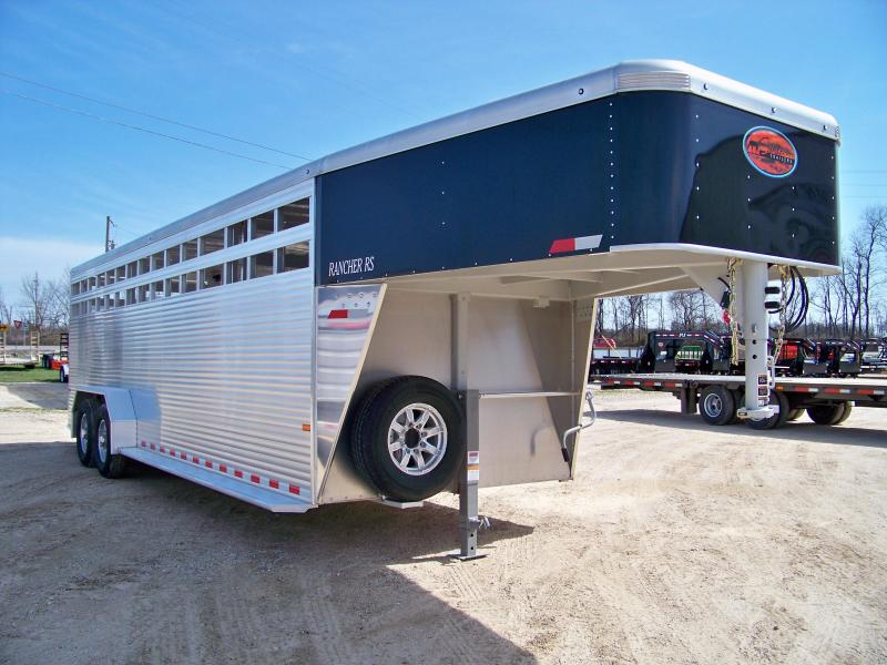 2018 Sundowner Trailers 7 x 24 Rancher RS gooseneck Livestock Trailer