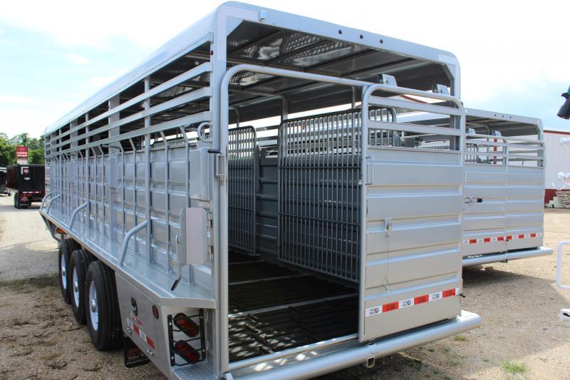 2019 GR Trailers 6.8x28 gooseneck Livestock Trailer