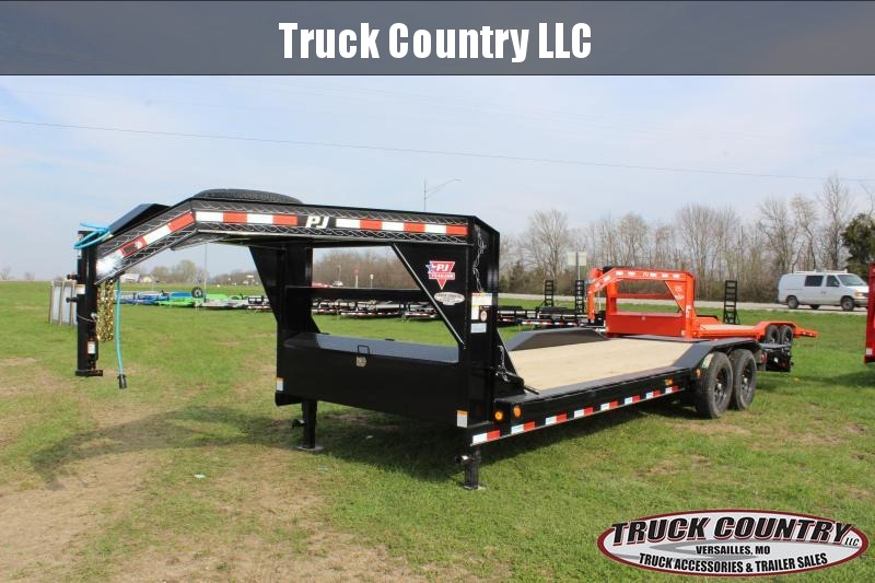 "2020 PJ Trailers B6 102""x24' superwide gooseneck Equipment Trailer"