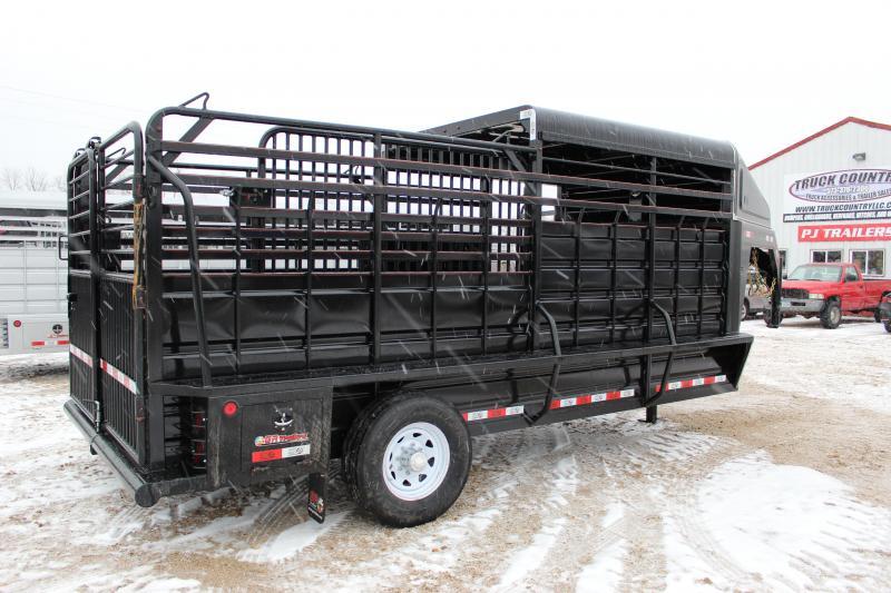 2020 GR Trailers 6.8x16' gooseneck Half-Top Livestock Trailer