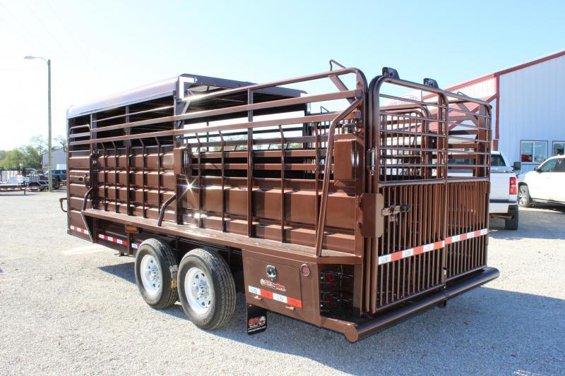 2020 GR Trailers 6.8x20 Half-Top gooseneck Livestock Trailer