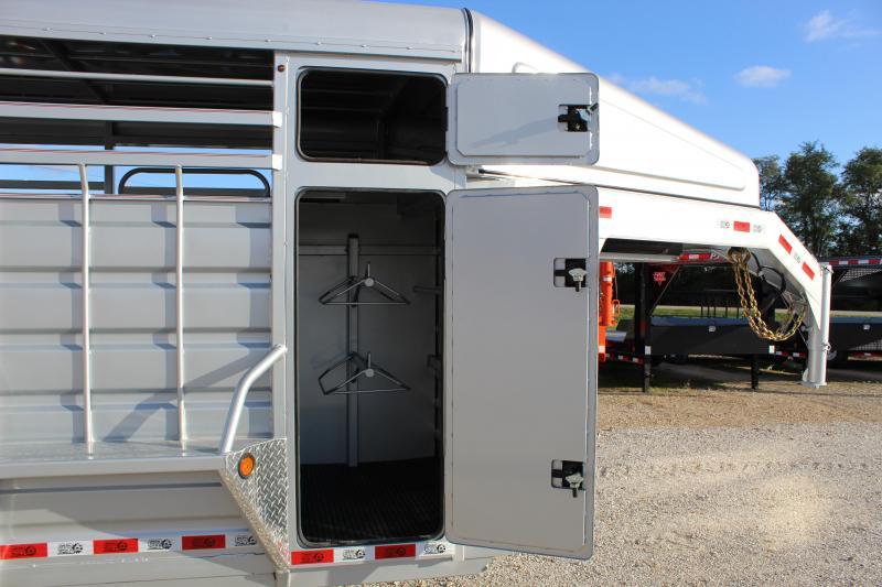 2020 GR Trailers 6.8x20 Half-Top Livestock Trailer