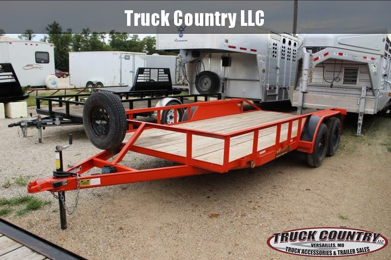 2018 Maxwell 16' orange Utility Trailer