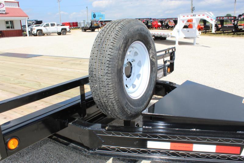2020 PJ Trailers T8 22 deckover tilt Flatbed Trailer