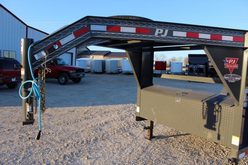 2020 PJ Trailers T6 22' gooseneck Equipment Trailer