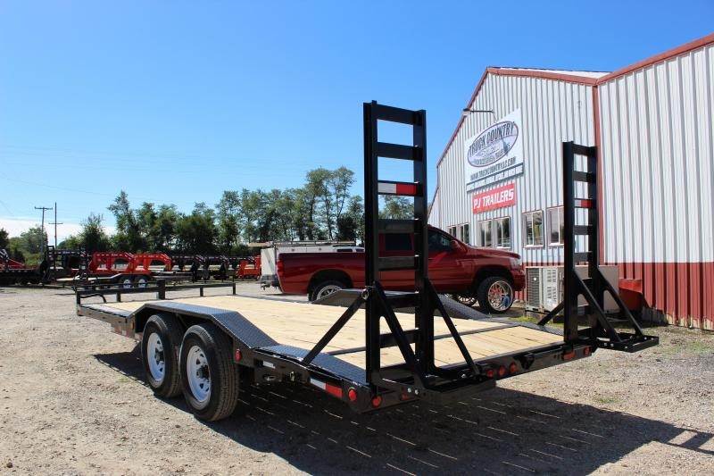 2019 PJ Trailers 20' B6 superwide drive over fenders Equipment Trailer