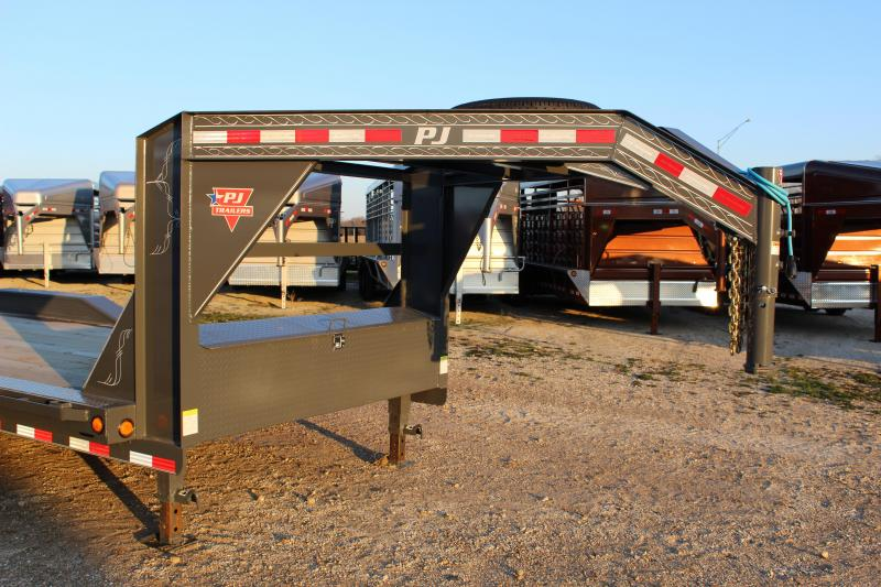 2020 PJ Trailers B6 22' gooseneck superwide Equipment Trailer