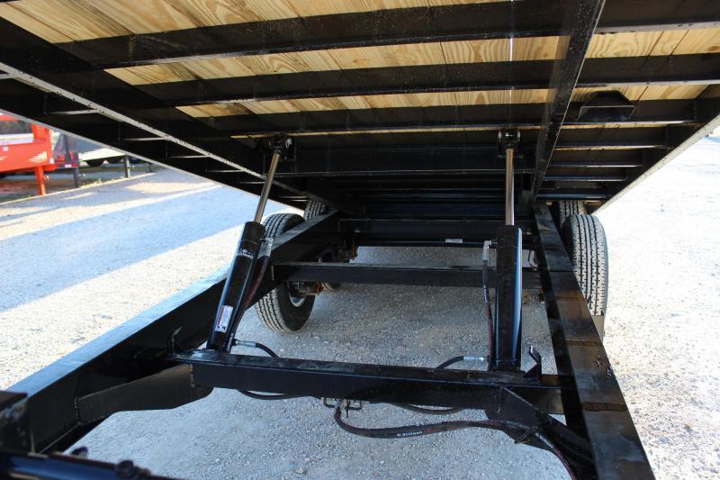 2020 PJ Trailers T8 22' deckover tilt Flatbed Trailer