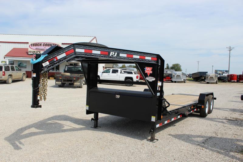 2020 PJ Trailers T6 22 gooseneck tilt Equipment Trailer