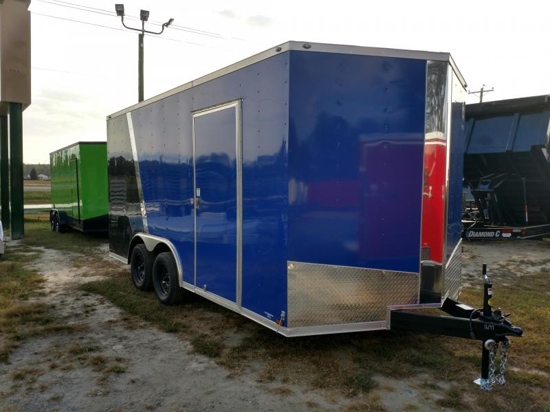 2020 Spartan 8.5x16 7k V Nose Enclosed Cargo Trailer