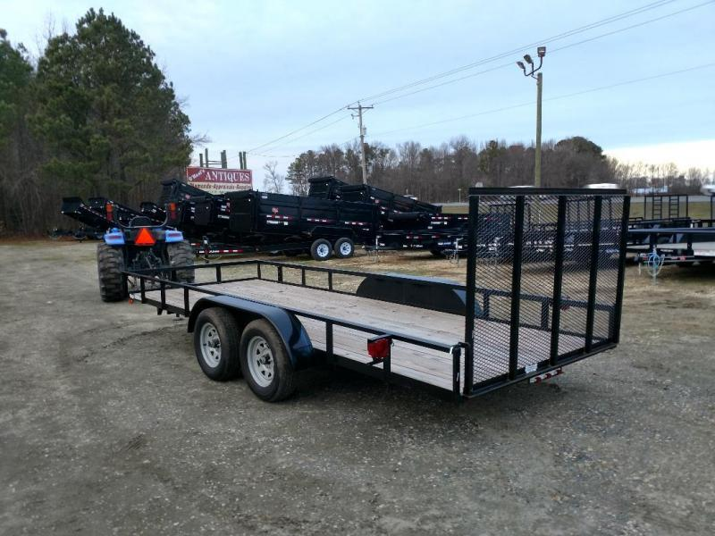2019 American Manufacturing Operations (AMO) 76X18 Utility Trailer