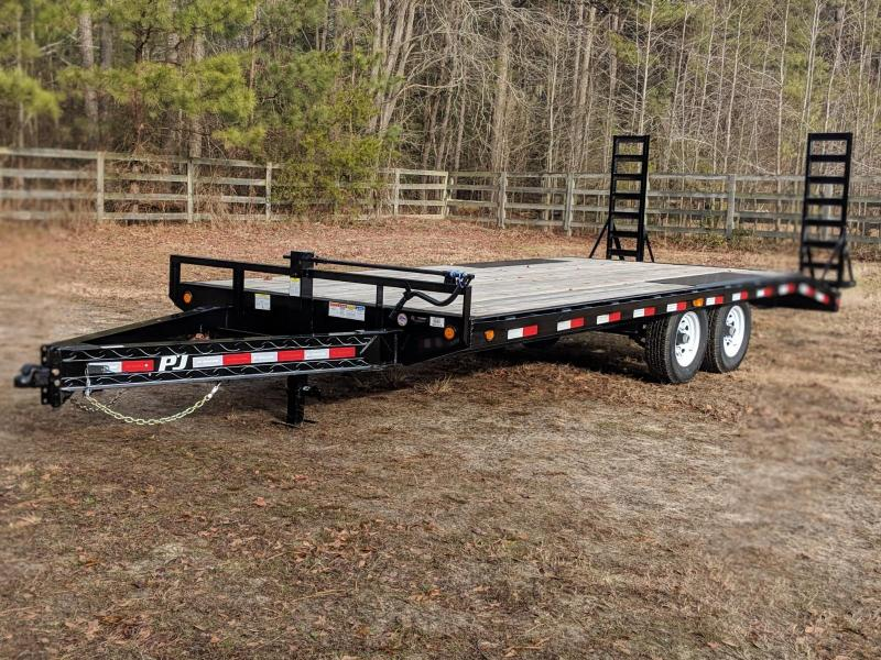 2020 PJ Trailers F8 20' Equipment Trailer