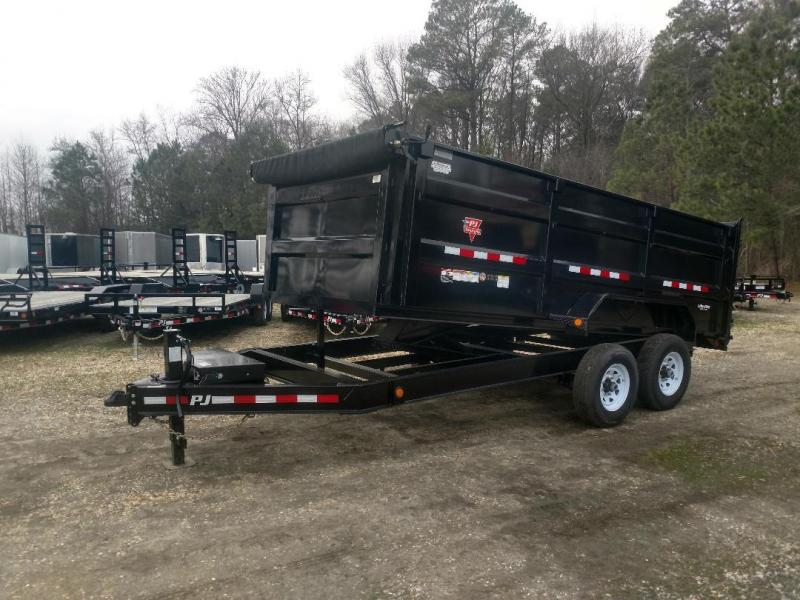 "2020 PJ Trailers 16' x 83"" Low Pro High Side Dump Trailer"