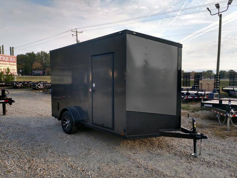 2020 Spartan 7x12 3k Charcoal Blackout Enclosed Cargo Trailer