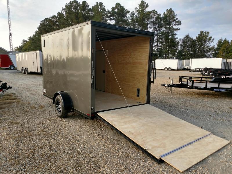 2020 Spartan 7x12 3k Charcoal Blackout Enclosed Cargo Trailer