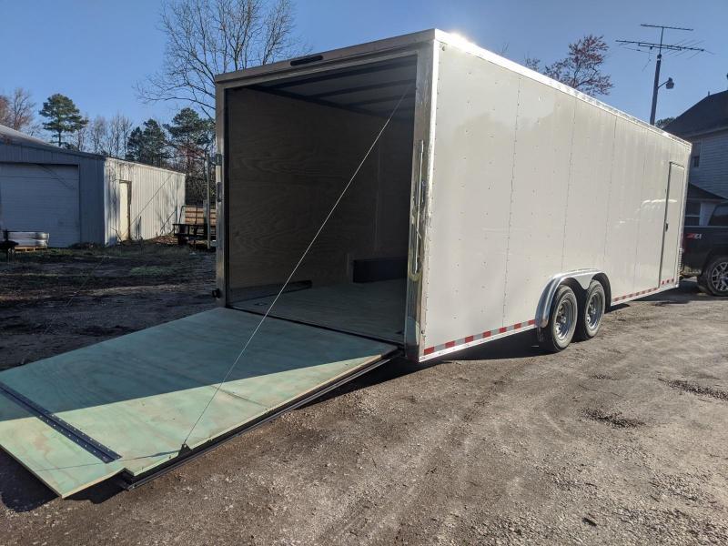"""2020 Arising 8.5x24 10k white 6"""" Enclosed Cargo Trailer"""