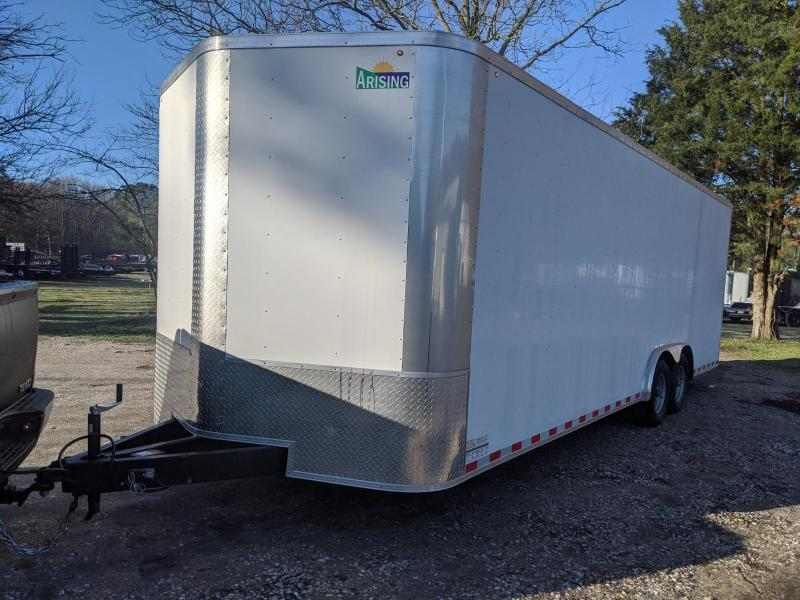 "2020 Arising 8.5x24 10k white 6"" Enclosed Cargo Trailer"