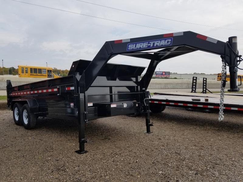 2019 Sure-Trac 82 IN X 16 LP 14K Goose Dual Ram Dump