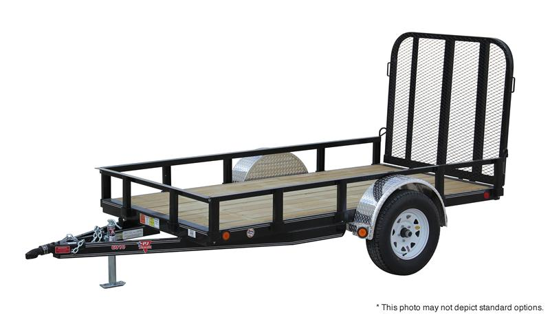 "2019 PJ Trailers 10'x60"" Single Axle Channel Utility Trailer"