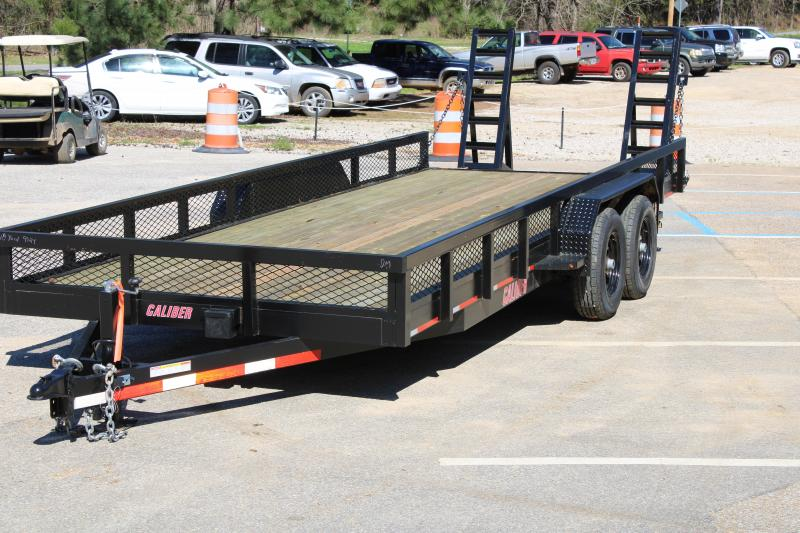 Trailer World 7'x18' 10K Equipment Trailer W/ Mesh Ramps