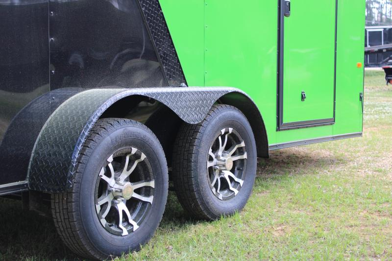 Rock Solid 7'X16' Green/Blackout 7K Cargo Trailer