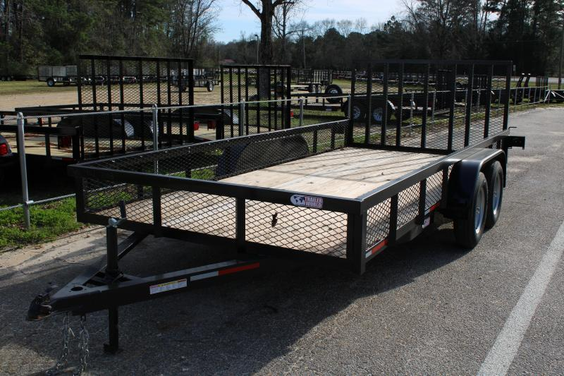 2020 Trailer World WG716 7K Utility Trailer W/ 1' Mesh Sides