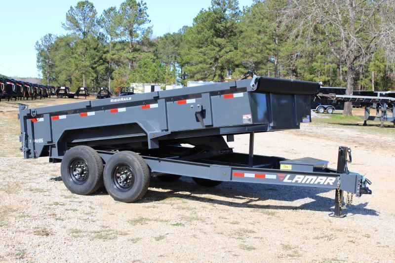 "Lamar 83"" X 16' Tandem Axle 14K Grey Dump Trailer"