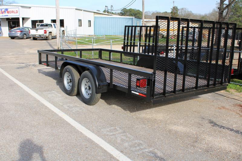2020 Trailer World WG716 7K Utility Trailer W/ Brake & 1' Mesh Sides