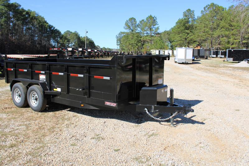 Port City 7' X 16' 14K Tandem Axle Dump Trailer