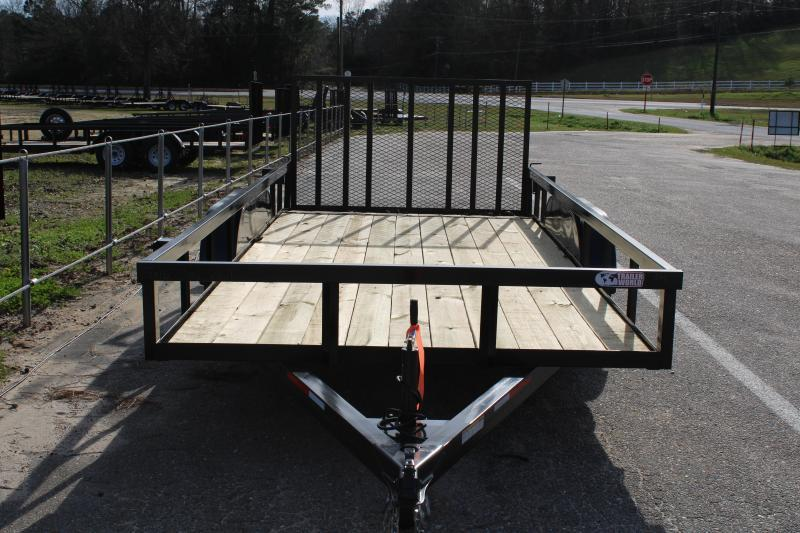 Trailer World 7'X16' 7K Utility Trailer W/ Dovetail