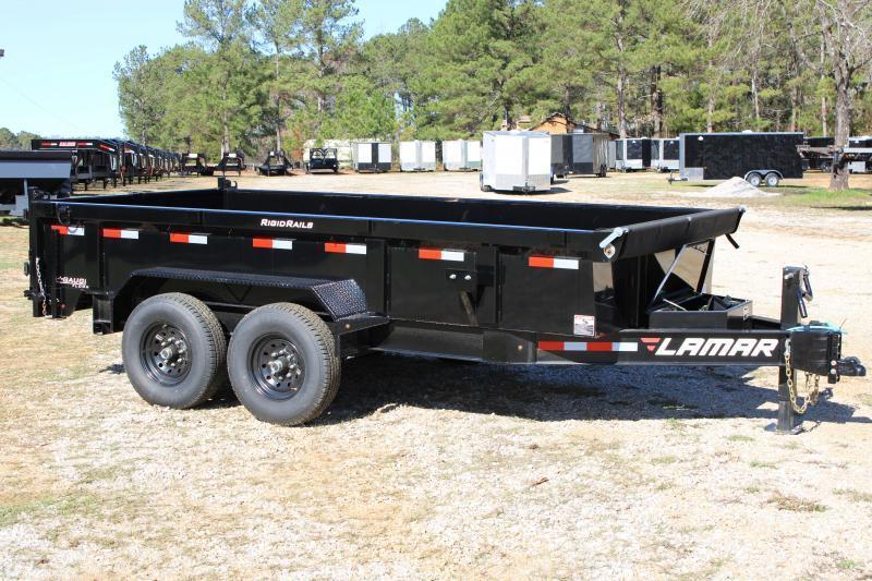 "Lamar 83"" X 14' Tandem Axle 14K Black Dump Trailer"