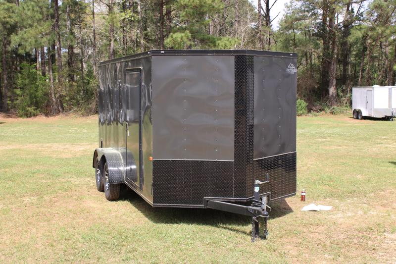Rock Solid 7'X14' Charcoal/Blackout 7K Cargo Trailer