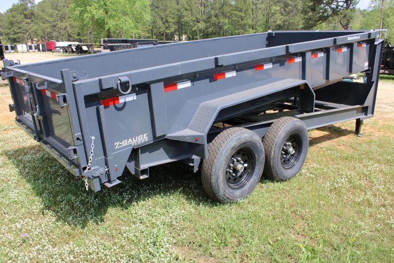 """Lamar 83""""X16' 14K Grey Gooseneck Dump Trailer"""