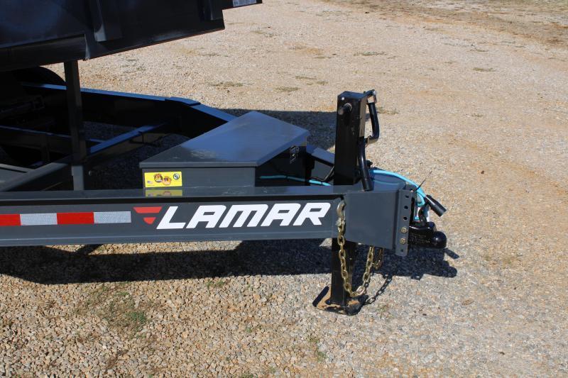 "Lamar 83"" X 14' Tandem Axle 14K Grey Dump Trailer"