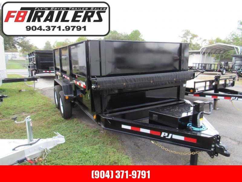 2020 PJ Trailers 7X14 with 2 ft Removable Sides Dump Trailer
