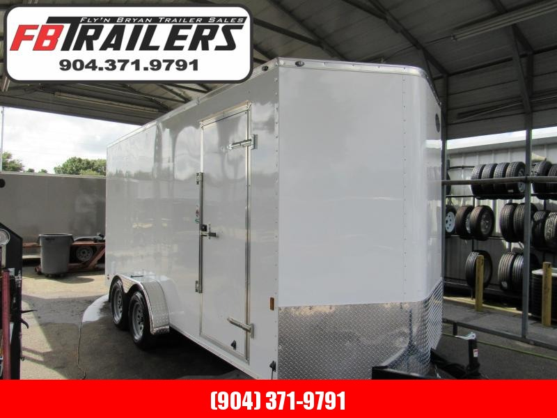 "2020 Continental Cargo 7X16 with 12"" Added Height Enclosed Cargo Trailer"