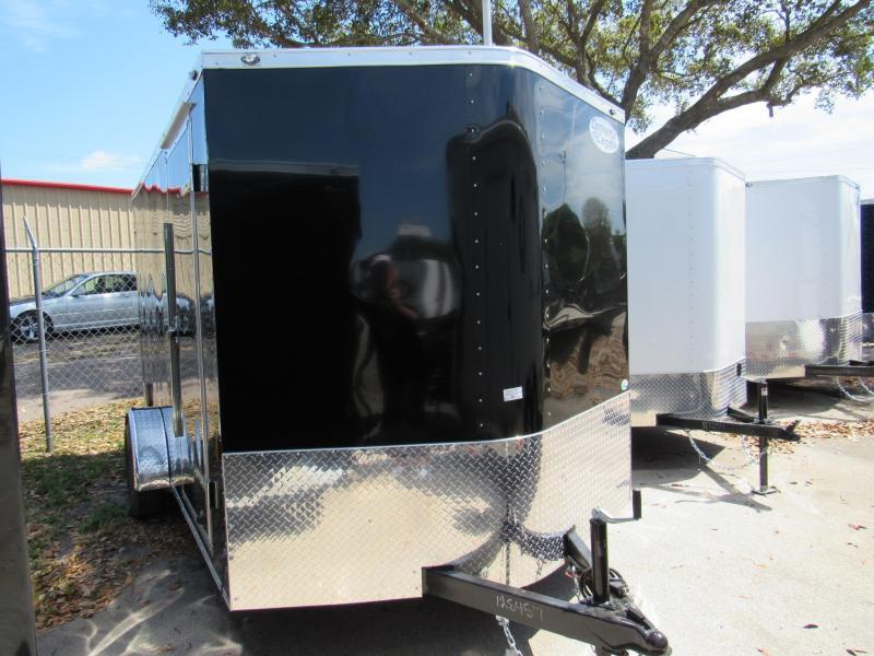 2020 Continental Cargo 7X12 Single Axle Enclosed Cargo Trailer