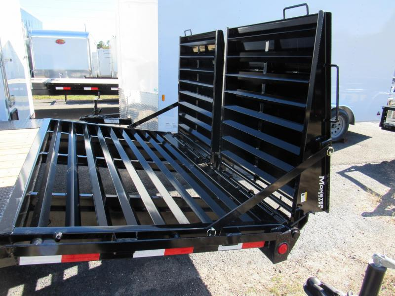 2020 PJ Trailers 20ft Deckover with Monster Ramps Equipment Trailer