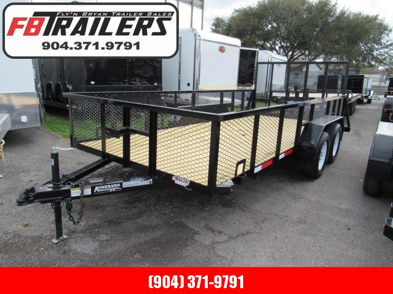 2020 Anderson Manufacturing 7X16 2ft Mesh Sides Utility Trailer