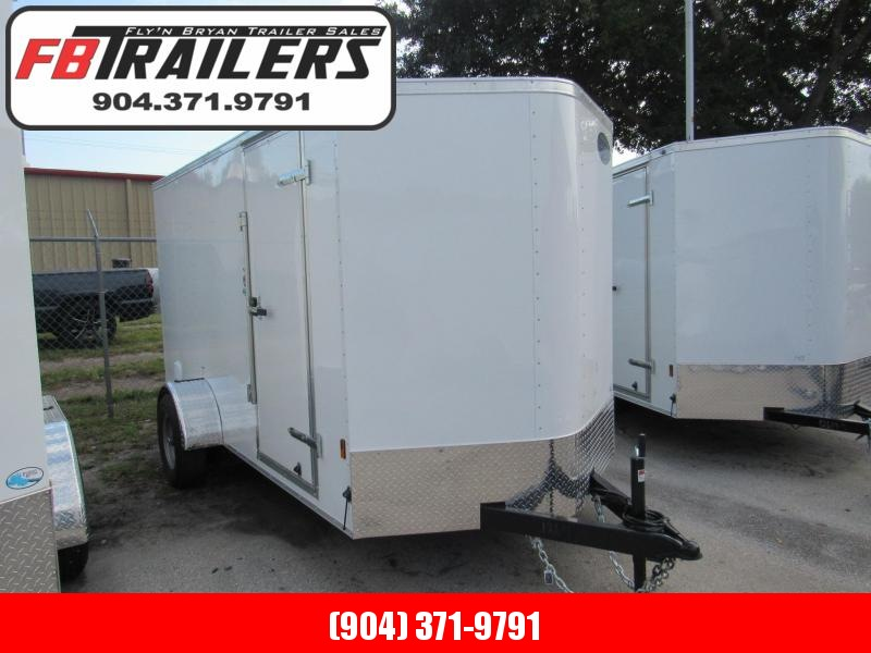 2020 Continental Cargo 6X12 With 5200lb Axle Enclosed Cargo Trailer