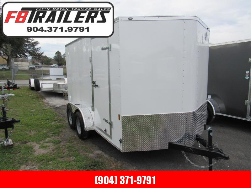 2020 Continental Cargo 7X12 with Double Rear Doors Enclosed Cargo Trailer