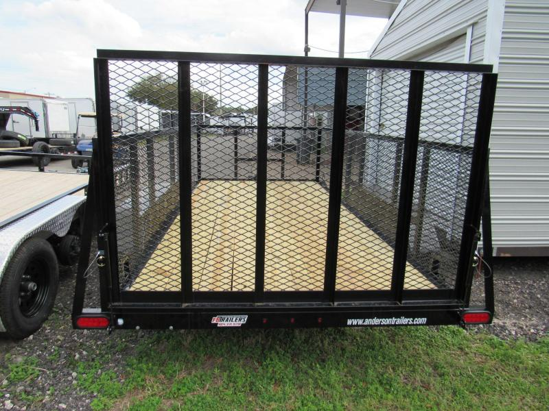 2020 Anderson Manufacturing 6X14 3Ft Mesh Sides Utility Trailer