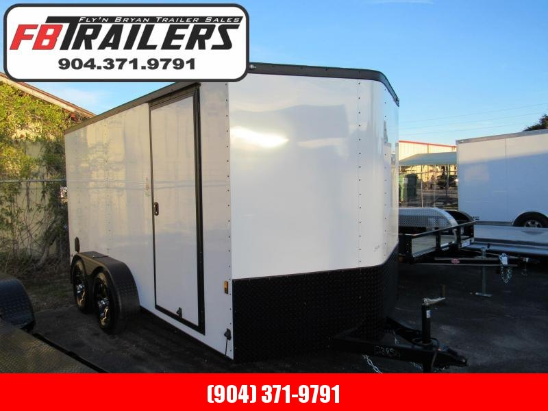 2019  7X14 Alum Wheels Radial Tires Blackout Package Enclosed Cargo Trailer