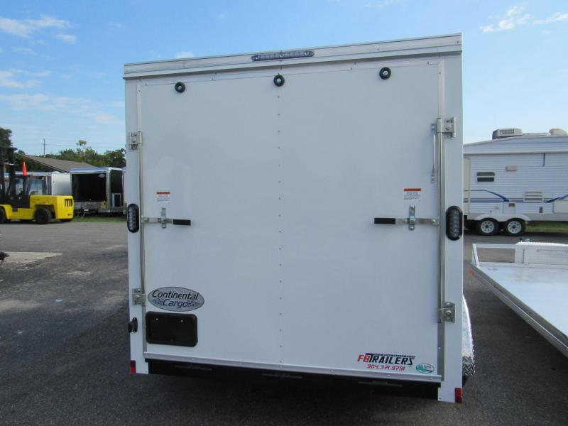2020 Continental Cargo 7X12 Tandem Enclosed Cargo Trailer